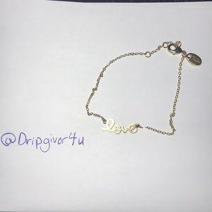 "Jewelry - ""Love"" Gold plated Bracelet"